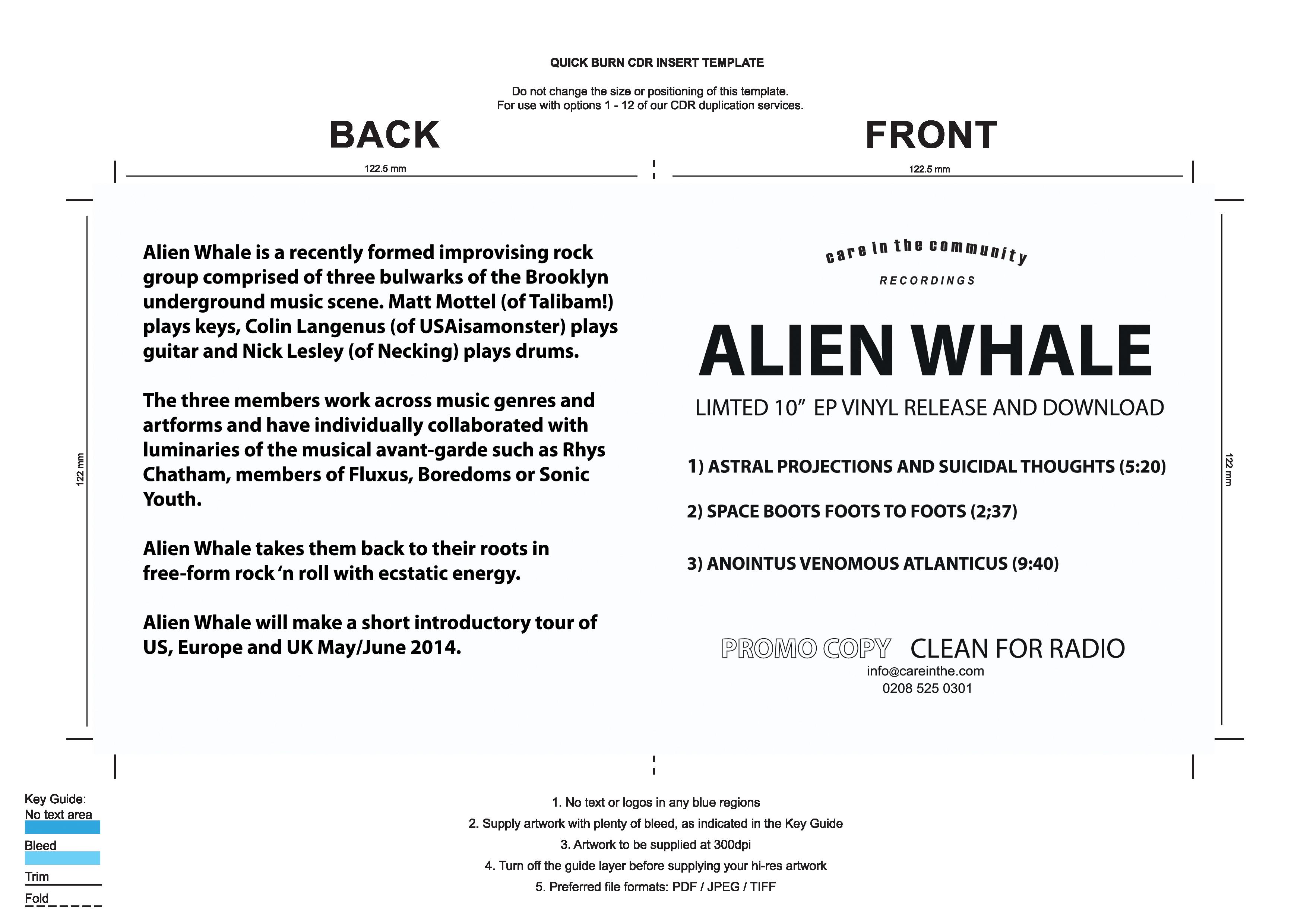 Artwork Requirements Quickburn – Artwork Release Form